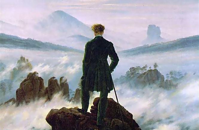 Сказки, мифы, символы и суеверия Каспар Давид Фридрих - Странник над морем тумана | Блог без правок