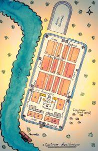 фантастическая карта. римский лагерь в Ниеншанце