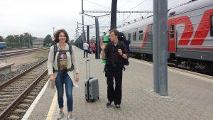 На вокзале в Таллине