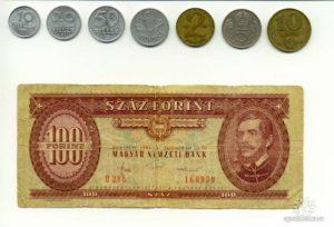 Венгерские монеты и купюры 1970-1980-х