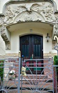 Фасады в стиле модерн в городе Эрфурт