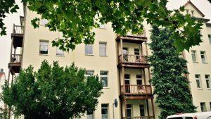 Эрфурт. Балконы в стиле баухаус