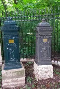 Эрфурт. Почтовые ящики-тумбы