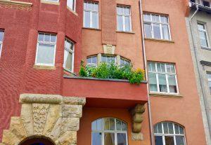 Эрфурт. Балкон с помидорами