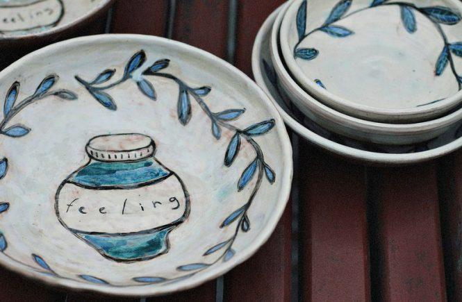 керамика тарелочка Feeling
