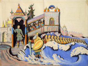 """""""Сказка о царе Салтане"""", иллюстрации Конашевича"""