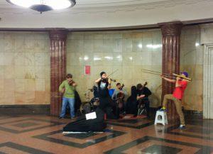 музыканты в метро. Москва