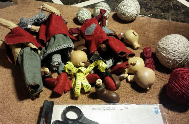 реанимация испорченных кукол. процесс