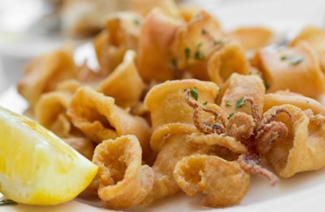 морепродукты в панировке