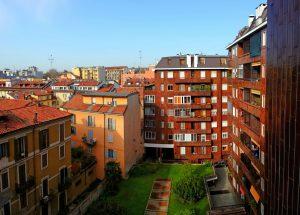 Милан. Двор жилого дома