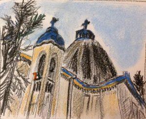 Иезуитский собор, пастель