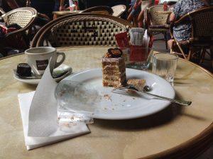 Пирожное Эстерхази. Будапешт, кафе