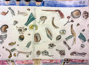 Помпейская мозаика. Остатки пира. Карандаши