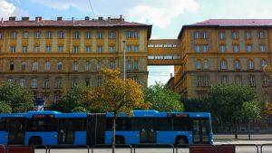 Автобусная стоянка у вокзала в Будапеште
