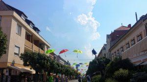 Главная улица города Кестхей, Венгрия