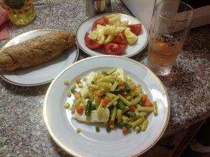 Еда с овощами, венгерский вариант