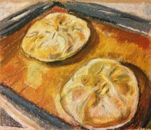 Осетинские пироги масляная пастель.