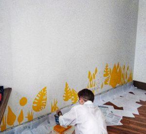 Расписать стены в доме цветами