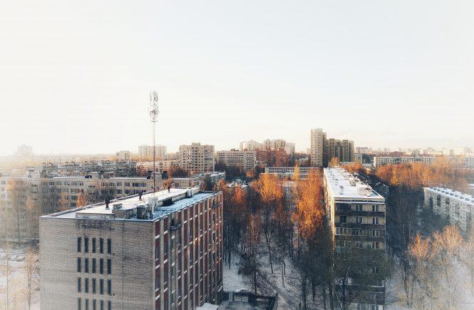 вид из окна. ранний снег | Блог без правок