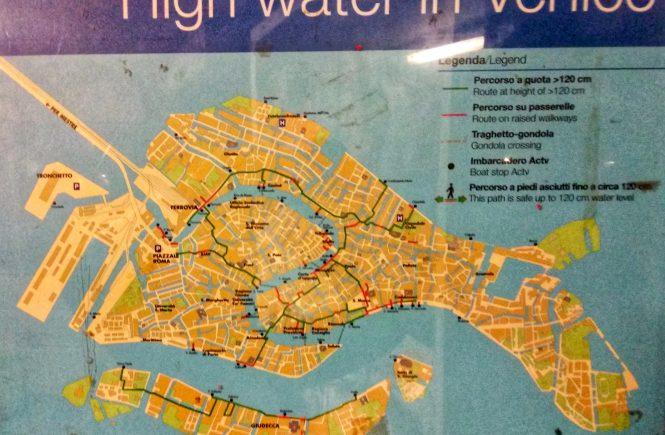 карта наводнений в Венеции | Блог без правок