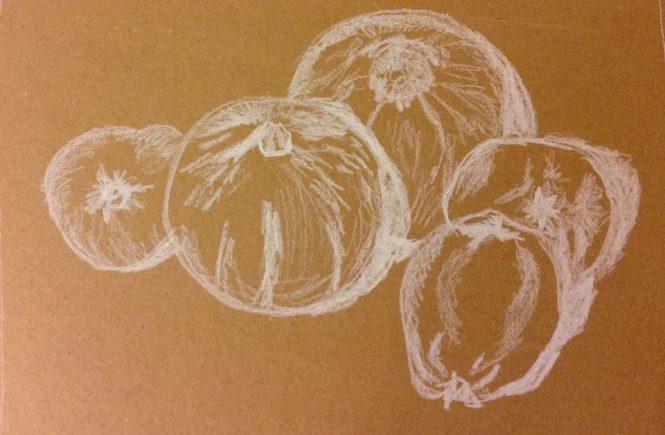 тыквы и айва рисунок