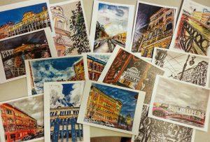 открытки Пешком по Питеру