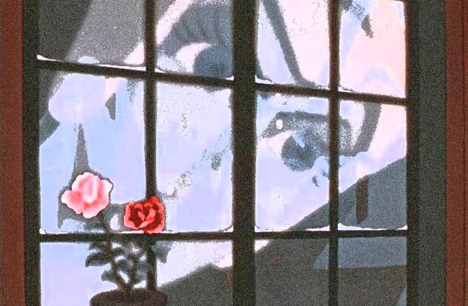 Снежная Королева заглядывает в окно. Мультфильм