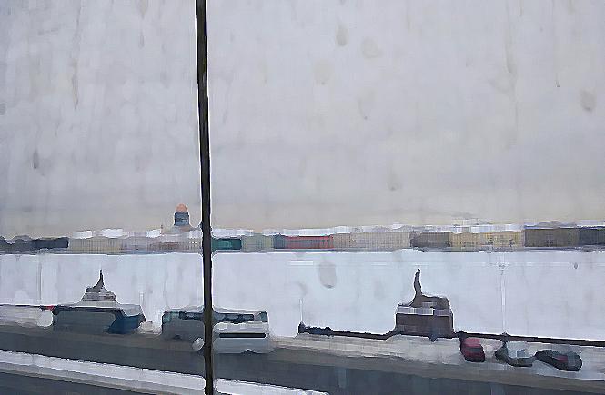 вид из окна Академии Художеств