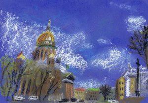 Рисовать апрельский город | Блог Без правок